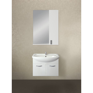 Мебель для ванной 1Marka Вита 65П с дверками, белый глянец