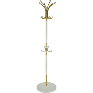 Вешалка напольная Мебелик Д 1 золото/слоновая кость