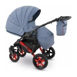 Коляска 2 в 1 Camarelo SEVILLA XSE-6 Синий меланж коляска rudis solo 2 в 1 синий бежевый лен gl000338124 492552