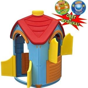 Домик игровой Marian Plast (Palplay) разборный (голубой, красный) со светом и музыкой 6601 все цены