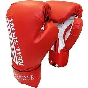 Перчатки боксерские RealSport Leader 10 унций красный перчатки боксерские green hill force цвет красный белый вес 10 унций bgf 1215