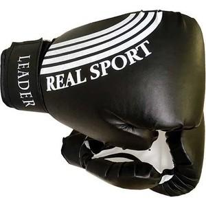 Перчатки боксерские RealSport Leader 12 унций черный перчатки боксерские ronin leader синий