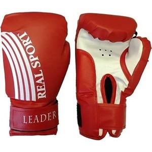 Перчатки боксерские RealSport Leader 6 унций красный перчатки боксерские ronin leader синий
