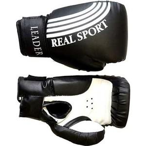 Перчатки боксерские RealSport Leader 6 унций черный перчатки боксерские ronin leader синий