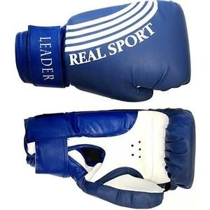 Перчатки боксерские RealSport Leader 8 унций синий