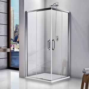 Душевой уголок Good Door Fantasy CR 100х100 с поддоном, прозрачный рисуком Фантази, хром