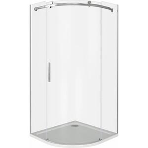 Душевой уголок Good Door Galaxy R 100х100 прозрачный, хром (Galaxy R-100-C-CH)