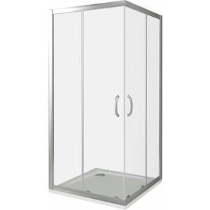 Душевой уголок Good Door Infinity CR 80х80 прозрачный, хром (Infinity CR-80-C-CH) душевой лоток с решеткой alpen drops 45 cм хром глянцевый ch 450d