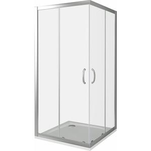 Душевой уголок Good Door Infinity CR 100х100 прозрачный, хром (Infinity CR-100-C-CH) душевой лоток с решеткой alpen drops 45 cм хром глянцевый ch 450d