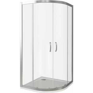 Душевой уголок Good Door Infinity R 80х80 прозрачный, хром (Infinity R-80-C-CH) душевой лоток с решеткой alpen drops 45 cм хром глянцевый ch 450d