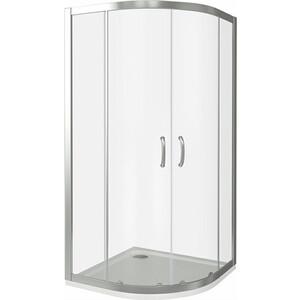Душевой уголок Good Door Infinity R 100х100 прозрачный, хром (Infinity R-100-C-CH) душевой лоток с решеткой alpen drops 45 cм хром глянцевый ch 450d