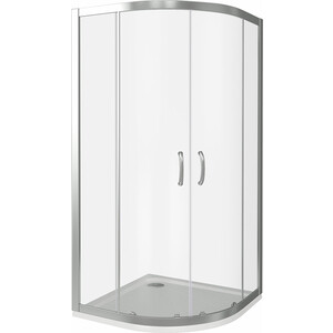 Душевой уголок Good Door Infinity R 100х100 прозрачный, хром (Infinity R-100-C-CH)