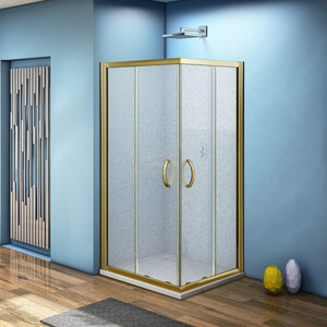 Душевой уголок Good Door Jazze CR 90х90 матовый, бронза (Jazze -G-BR)