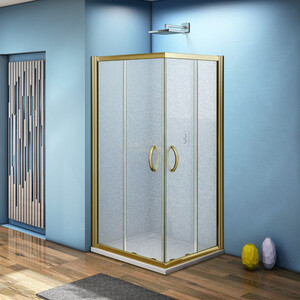 Душевой уголок Good Door Jazze CR 100х100 матовый, бронза (Jazze CR-100-G-BR)