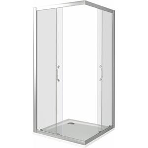 Душевой уголок Good Door Latte CR 100х100 прозрачный, белый (Latte CR-100-C-WE)