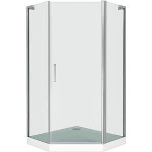 Душевой уголок Good Door Pandora PNT 100х100 прозрачный, хром (Pandora PNT-100-C-CH) душевой лоток с решеткой alpen drops 45 cм хром глянцевый ch 450d