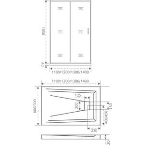 Душевая дверь Good Door Infinity 130 прозрачная, хром (Infinity WTW-130-C-CH) c 130 2 8