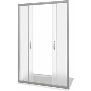 Душевая дверь Good Door Infinity 150 матовая Грейп, хром (Infinity WTW-TD-150-G-CH)