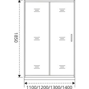 Душевая дверь Good Door Latte 110 прозрачная, белый (Latte WTW-110-C-WE)