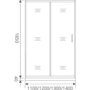 Душевая дверь Good Door Latte 110 матовая Грейп, белый (Latte WTW-110-G-WE)