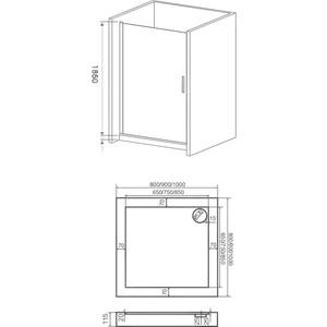 Душевая дверь Good Door Pandora 100 прозрачная с рисунком, хром (Pandora DR-100-T-CH)