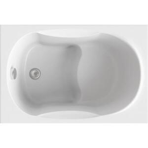 Акриловая ванна BAS Рио 105x70 см на каркасе, слив-перелив (В 00046) акриловая ванна с гидромассажем kolpa san chad s magic l 170x120 см левая на каркасе слив перелив
