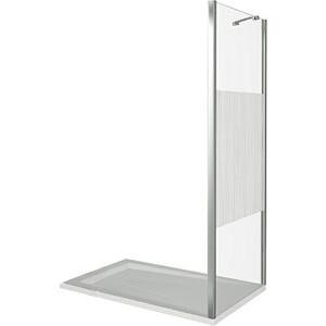 Боковая стенка для душевой двери Good Door Pandora 80 комбинированная, хром (Pandora SP-80-T-CH)