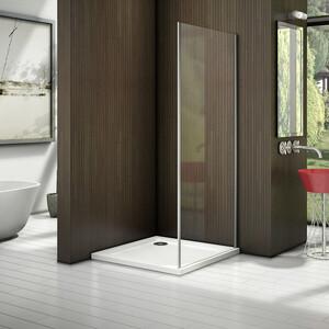 Боковая стенка для душевой двери Good Door Latte 80 прозрачная, белый (Latte SP-80-C-WE)