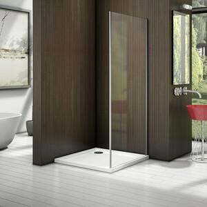 Боковая стенка для душевой двери Good Door Latte 90 прозрачная, белый (Latte SP-90-C-WE)