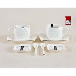 Набор чайный 8 предметов 200 мл Коралл Снежная королева (СРТ0012-А)