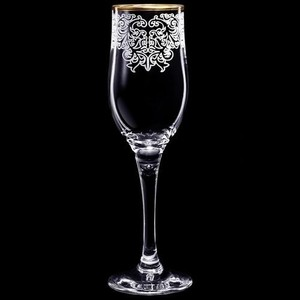 Набор бокалов 6 штук 200 мл М-Декор Боярский гравировка отводка золото (1712-ГЗ) гравировка