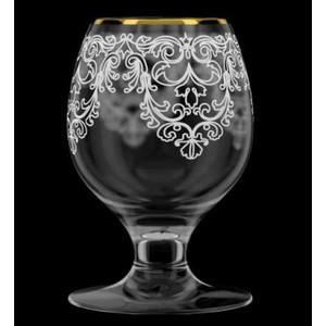 Набор бокалов для бренди 6 штук 250 мл М-Декор Византия гравировка золото (1714-ГЗ) гравировка