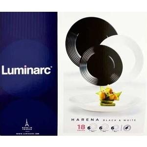 Сервиз столовый 18 предметов Luminarc Harena Black & White (N1518)