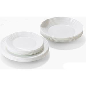 Сервиз столовый 18 предметов Luminarc Harena White (L3270) чайный сервиз 8 предметов luminarc allegris 67530 г3538