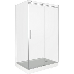 Душевой уголок Good Door Galaxy 110х90 прозрачный, хром