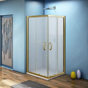 Душевой уголок Good Door Jazze CR 90х90 с поддоном, матовый, бронза