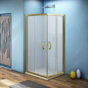 Душевой уголок Good Door Jazze CR 100х100 с поддоном, матовый, бронза