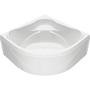 Акриловая ванна BAS Хатива 143х143 с каркасом, слив-перелив, фронтальная панель (В 00042, Э 00042)