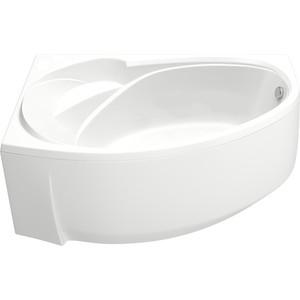 Акриловая ванна BAS Флорида левая 160х90 с каркасом, слив-перелив, фронтальная панель (В 00038, Э 00038) bas гидромассажная ванна bas флорида 160 90 левая