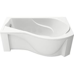 Акриловая ванна BAS Капри правая 170х94,5 с каркасом, слив-перелив, фронтальная панель (В 00016, Э 00016)