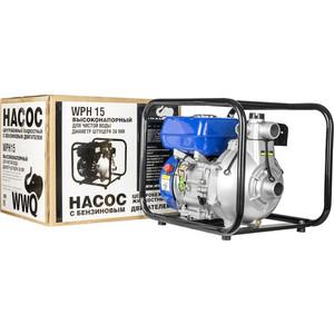 Мотопомпа бензиновая WWQ WPH15 бензиновая мотопомпа hitachi a160e
