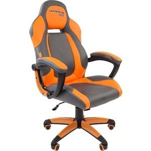 все цены на Офисноекресло Chairman game 20 экопремиум серо-оранжевый онлайн