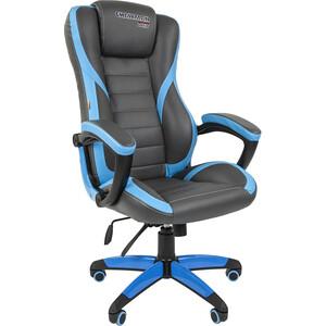все цены на Офисноекресло Chairman game 22 экопремиум серо-голубой онлайн