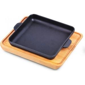 Сковорода квадратная 18 см с дощечкой Brizoll Horeca (Н181825-Д) сковорода с подставкой brizoll horeca