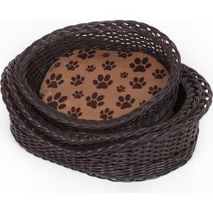 Лежанка Зоофортуна корзина с порогом №3 (р-003) полиротанг для кошек и собак (59*44*15)