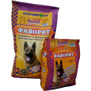 Сухой корм Фаворит Актив для активных собак всех пород 13кг для собак фаворит