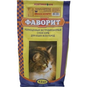 Сухой корм Фаворит Мясное ассорти для кошек всех пород 13кг