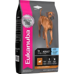 Сухой корм Eukanuba Adult Dog Large Breed Lamb & Rice Formula с ягненком и рисом для взрослых собак крупных пород 12кг