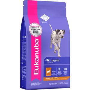 Сухой корм Eukanuba Pyppy Lamb & Rice Formula с ягненком и рисом для щенков всех пород 1кг