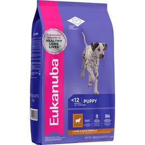 Сухой корм Eukanuba Pyppy Lamb & Rice Formula с ягненком и рисом для щенков всех пород 12кг